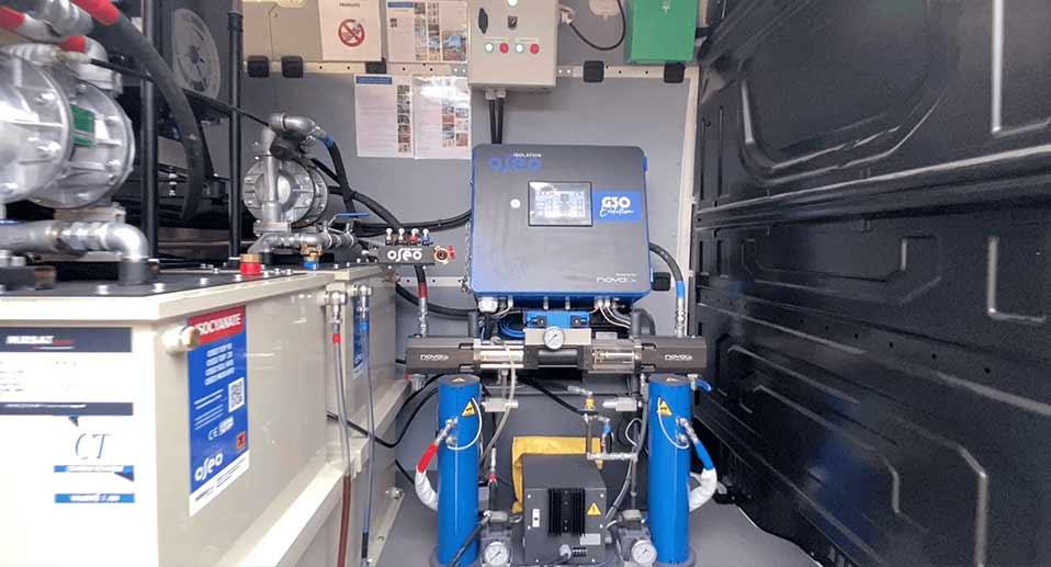 Machine projection polyurethane