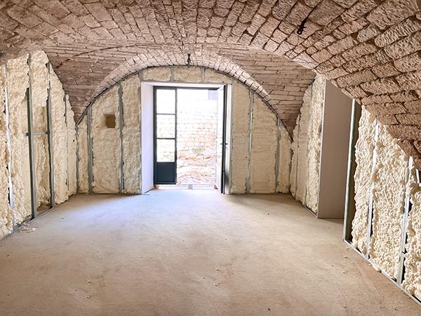 Isolation mur maison
